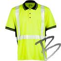 Image Kishigo Premium Black Series High Performance Class 2 Polo Shirt, Lime