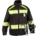 Image ML Kishigo Enhanced Visibility Premium Jacket, Black/Lime
