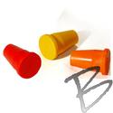 Image Rebar Caps 3/8-inch Rebar and 1/2-inch Pipe