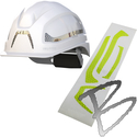 Image HexArmor Ceros™ Reflective Sticker Set, Silver or HiVis Safety Helmet Accessory