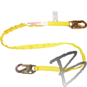 Image FCP 6' Tubular shock absorbing web lanyard, #Z74 locking snap hooks*