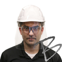 Image HexArmor Fluid-Resistant Face Protector for Hard Hats