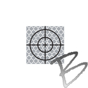 Image SitePro 40mm Reflective Retro Target, Stick-ons (10 Pack)