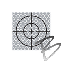 Image SitePro 60mm Reflective Retro Target, Stick-ons (10 Pack)