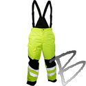 Image Kishigo Premium Black Series Insulated Pants, Lime ONLY