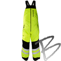 Image Kishigo Premium Black Series Insulated Bib Pants, Lime ONLY