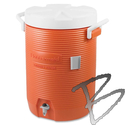 Image Rubbermaid Plastic 5 gal Water Cooler, Orange