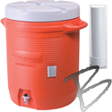 Image Rubbermaid 5 Gallon Water Cooler With Dispenser, Orange