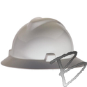 Image MSA V-Gard Hard Hat Full Brim style with Fas-Trac Ratchet Suspension