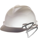 Image MSA V-Gard Hard Hat Cap Style with Fas-Trac Ratchet Suspension
