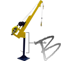 Image FCP Riser Pole for Davit Base ONLY