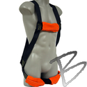 Image FCP Arc Flash Utility Harness, Heat Flame Resistant Kevlar Webbing, Back D-Ring
