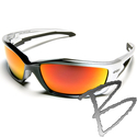 Image Edge Eyewear Kazbek Safety Glasses. Aqua Precision Red Mirror lens