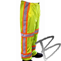 Image Dicke Safety Products ANSI Class E Pants, All Mesh, Lime ONLY