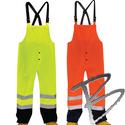 Image 3A Safety ANSI Class E, Hi-Viz Rainwear Bib Pants