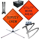 Image Roll-Up Road Signs & Bases