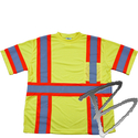 Image Dicke Safety Products T-Shirt Class 3, Triple Trim Striping w/ Pocket