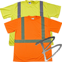Image Dicke Safety Products T-Shirt Class 2, Silver Stripes w/ Pocket
