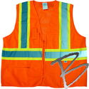 Image Dicke Safety Products Class 2 Orange Solid Front, Mesh Back Vest