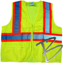 Image Dicke Safety Products Class 2 Mesh Lime Vest