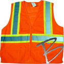 Image Dicke Safety Products Class 2 Mesh Orange Vest