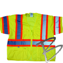 Image Dicke Safety Products Class 3 Lime Mesh Triple Trim Safety Vest