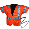 Image Dicke Safety Products Class 3 Safety Vest Orange Mesh