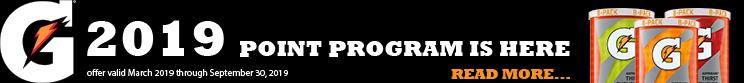 Gatorade Points Program 2019